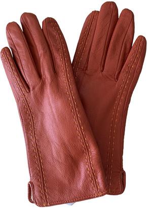 Non Signã© / Unsigned Orange Leather Gloves