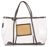 Dolce & Gabbana Metallic Leather-Trimmed Tote