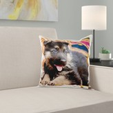 German Shepherd Puppy Dog on Blankets Pillow Cover East Urban Home