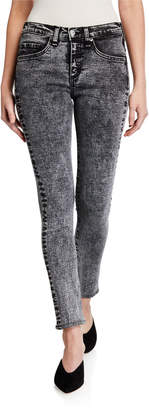 Veronica Beard Brooke Acid Wash Skinny Jeans