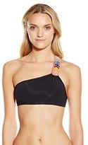 Mara Hoffman Women's Embellished One-Shoulder Bikini Top