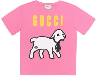 Gucci Kids Lamb-print cotton jersey T-shirt