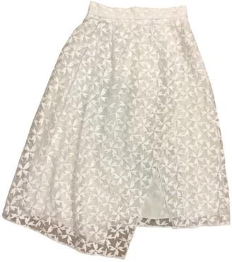 Tanya Taylor White Silk Skirt for Women