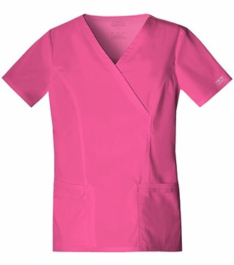Cherokee Women's Workwear Scrubs Core Stretch Mock Wrap Top