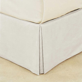 OKA Bed Valance 100% Cotton, Double - White