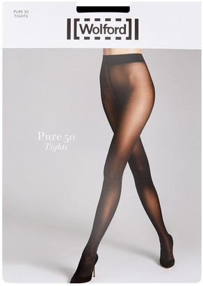 Wolford Pure Black 50 Denier Tights