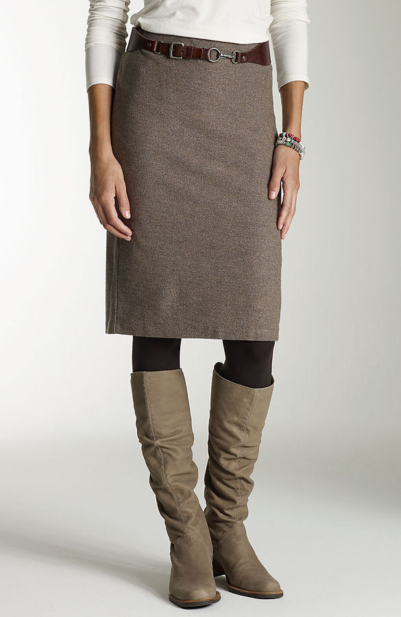 J. Jill Knit tweed pencil skirt