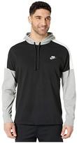 Nike NSW Hoodie Pullover Jersey Color Block (Black/Dark Grey Heather/Sail/White) Men's Clothing
