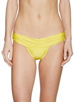 Vix Paula Hermanny Solid Pleats Full Bikini Bottom