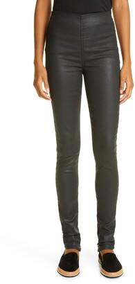 Rag & Bone Nina High Waist Pull-On Coated Jeans