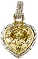 Judith Ripka Canary Crystal & Diamond Heart Pendant