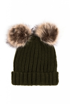 Quiz Khaki Double Pom Pom Hat