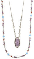 lonna & lilly Cubic Zirconia, Mother-of-Pearl and Epoxy Necklace