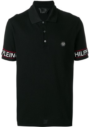 Philipp Plein logo detail polo shirt