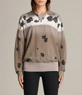 AllSaints Healy Gingham Rose Top