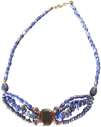 Isabel Marant Blue Pearl Necklaces
