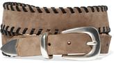 Rag & Bone Mckenzie Whipstitched Nubuck Belt - Camel