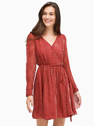 Kate Spade Festive Confetti Devore Mini Dress
