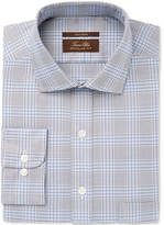 Tasso Elba Men's Classic/Regular Fit Non-Iron Multi Blue Glenplaid Dress Shirt, Created for Macy's