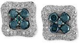 Effy Bella Bleu by Diamond Square Stud Earrings (1-1/6 ct. t.w.) in 14k White Gold