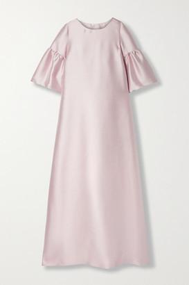 Reem Acra Satin-pique Gown - Blush