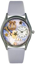 Whimsical Watches Women's S0710009 Angel with Harp Light Blue Leather Watch