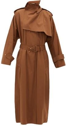Bottega Veneta Oversized-collar Trench Coat - Womens - Mid Brown