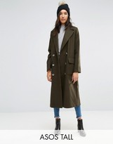 ASOS Tall ASOS TALL Coat with Oversized Styling