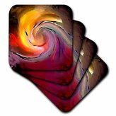 3dRose cst_1283_3 Digital Artwork Design 8 Ceramic Tile Coasters, Set of 4