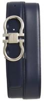 Salvatore Ferragamo Men's Reversible Double Gancio Calfskin Leather Belt