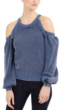INC International Concepts Inc Cold-Shoulder Sweater, Created for Macy's