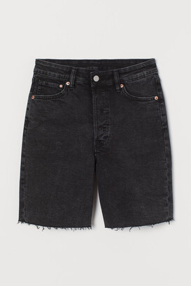H&M Denim Bermuda Shorts - Black