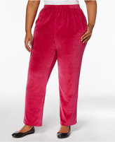 Alfred Dunner Plus Size Velour Pull-On Pants