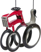 Red Tractor Tire Swing