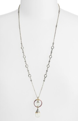 Konstantino Pythia Double Drop Pendant Necklace