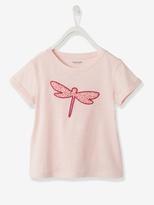Vertbaudet Girls Stylish Short-Sleeved T-Shirt