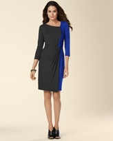 Soma Intimates Muse 3/4 Sleeve Bi-Color Twist Front Dress