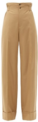 Connolly - Sash-waist Wool-blend Twill Wide-leg Trousers - Beige