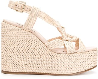 Casadei Woven Ring Wedge Sandals