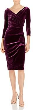 Chiara Boni Florien Velvet Faux-Wrap Dress - 100% Exclusive