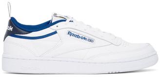 Reebok Classics White and Blue Club C 85 Sneakers