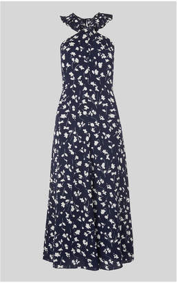 Whistles Celia Print Frill Detail Dress
