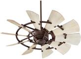 "Quorum International Windmill 44"" Ceiling Fan, Oiled Bronze"