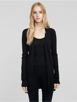 Calvin Klein Collection Cashmere Ribbed Cardigan