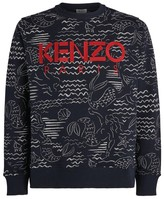 Kenzo All-Over Mermaids Print Sweatshirt