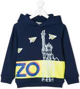 Kenzo Statue of Liberty print hoodie