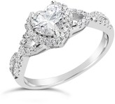 Thumbnail for your product : Sterling Forever Sterling Silver Heart CZ Engagement Ring