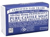 Dr. Bronner's Dr. Bronners Bar Peppermint 5oz. Soap (2 Pack)