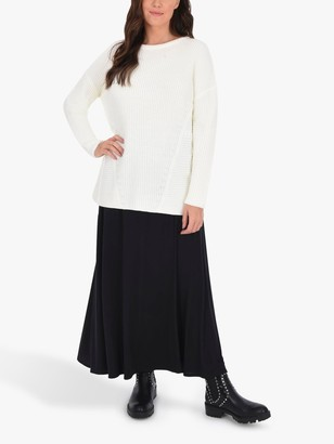 Live Unlimited Jersey Wrap Skirt, Black