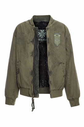 Mr & Mrs Italy Loden Bomber With Lamb Fur